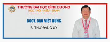 CCCT. CAO VIỆT HƯNG - BÍ THƯ ĐẢNG ỦY